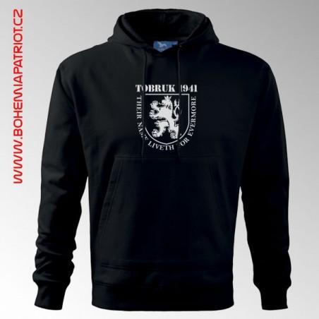 Mikina s kapucí a potiskem - Tobruk 1MK