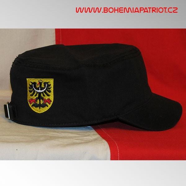 Čepice Silesia s výšivkou