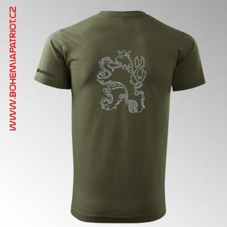 Tričko military s potiskem Country 1T