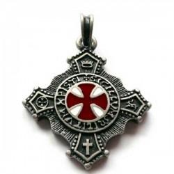 Templářský kříž, oboustranný amulet