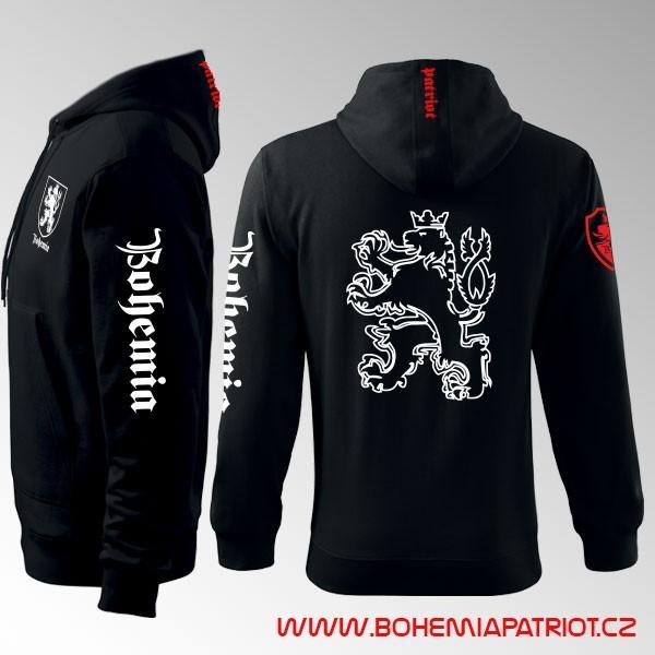 Mikina s kapucí a  potiskem - Bohemia 6MZ