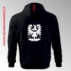 Mikina Silesia rebels 4MZ s potiskem, kapucí, celopropínací