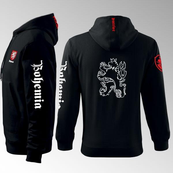 Mikina s kapucí a  potiskem - Bohemia 7MZ