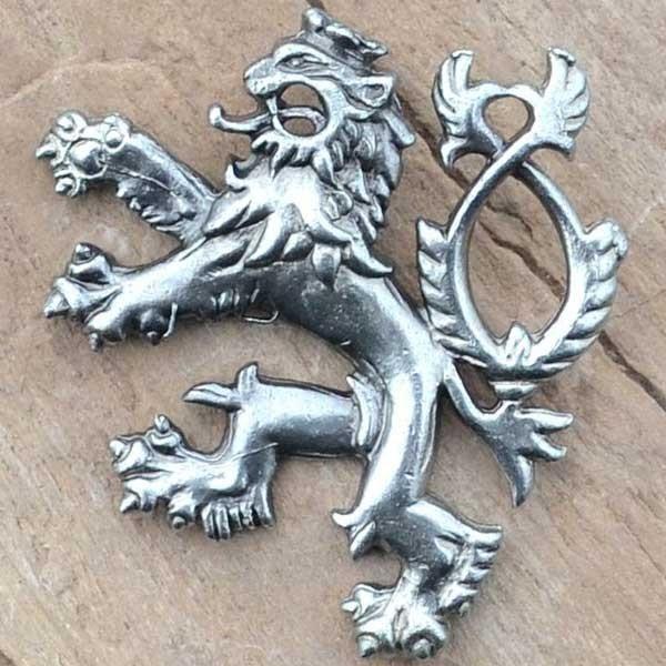 Český lev, přívěšek, postříbřeno